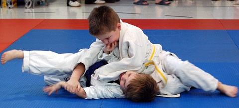 Детские тренировки по дзюдо