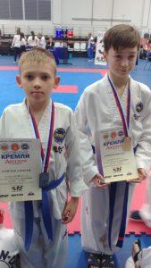 Награды наших молодых спортсменов по тхэквон-до