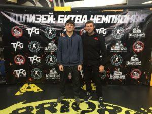 Хабибулло Азизов и тренер по ММА Ахмед Таибов
